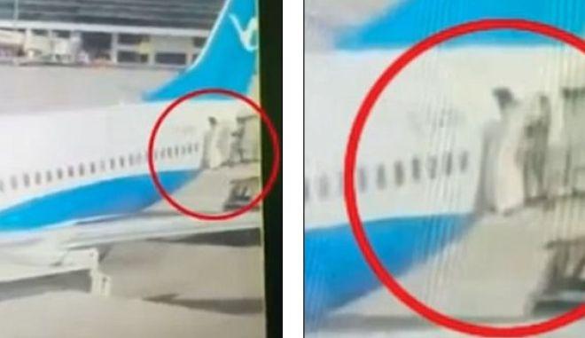 Βίντεο-σοκ: Αεροσυνοδός πέφτει στο κενό από την πόρτα αεροπλάνου