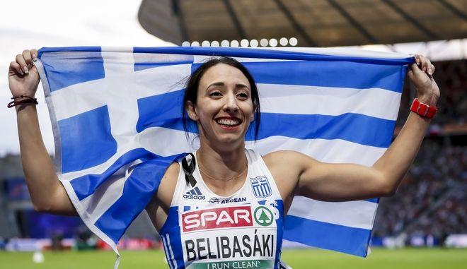 """""""Ασημένια"""" με πανελλήνιο ρεκόρ η Μπελιμπασάκη στα 400μ."""