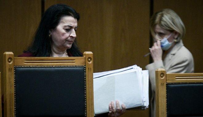 Η Εισαγγελέας Αδαμαντία Οικονόμου και η Πρόεδρος Μαρία Λεπενιώτη