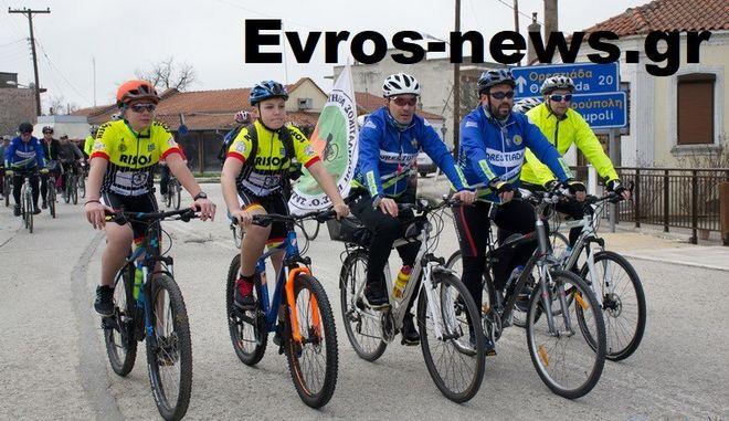 Ποδηλατοδρομία για τους δύο στρατιωτικούς στις Καστανιές Έβρου