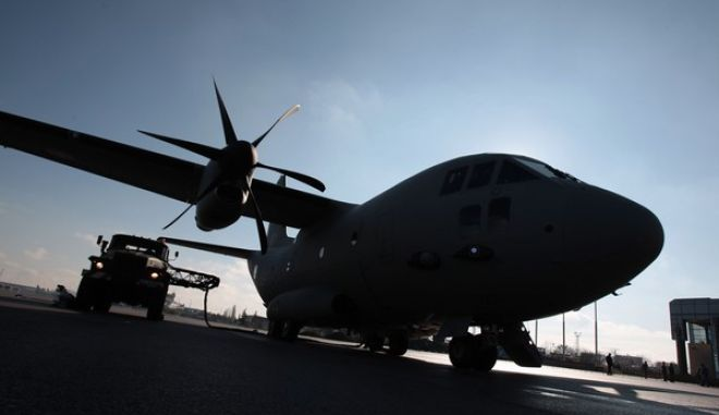 A tank refuels C-27J Spartan military transport plane at Sofia Airport Tuesday, Nov. 13, 2007. Bulgaria's Air Force received the first of five C-27J Spartan military transport planes Tuesday from Alenia Aeronautica, a unit of Italy's Finmeccanica Group. The Euro 91 million (US$133 million) deal is part of Bulgaria's program to integrate its armed forces into NATO, which the Balkan country joined in 2004. (AP Photo)