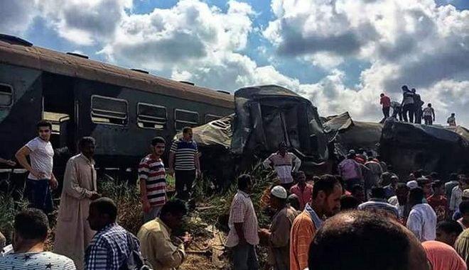 Σύγκρουση τρένων στην Αίγυπτο. Τουλάχιστον 25 νεκροί, 65 τραυματίες