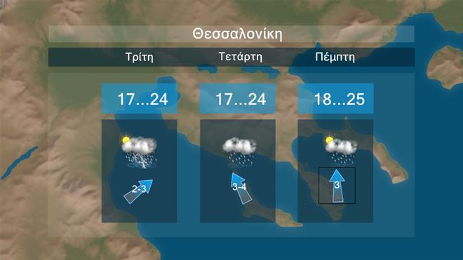 Πρόγνωση τριών ημερών για τη Θεσσαλονίκη