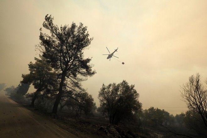 Εικόνες καταστροφής στην Εύβοια