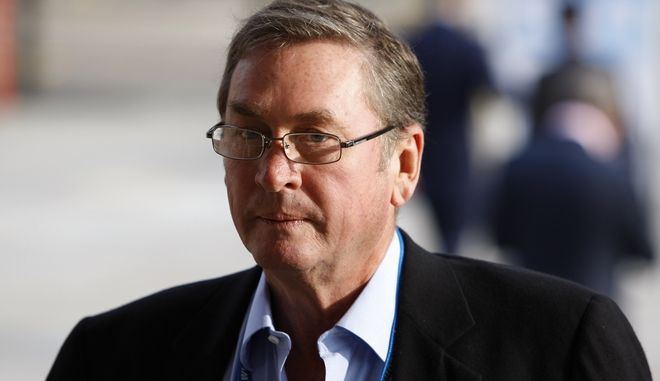 Britain's Conservative Party Deputy Chairman Lord Michael Ashcroft is seen at the Conservative Party Conference, in Manchester, England, Monday Oct. 5, 2009. Britain's Conservative Party is holding its last annual conference before next year's national election, which polls show is all but certain to put the party back in power after more than a decade.  (AP Photo/Jon Super).