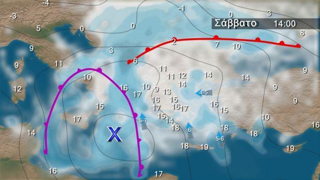 Καιρός: Νοτιάδες από τα δυτικά με βροχές και καταιγίδες-Χιόνια σε ορεινά και ημιορεινά