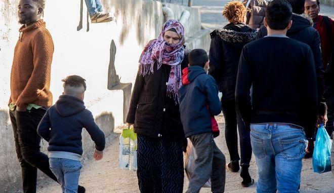 Δομή Προσφύγων στο Βαθύ της Σάμου.