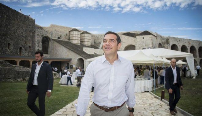 ο πρωθυπουργός Αλέξης Τσίπρας. Στη συνέχεια θα μεταβεί στα Ιωάννινα, όπου θα έχει Συνάντηση του Πρωθυπουργού Αλέξη Τσίπρα με φορείς της πόλης των Ιωαννίνων και δεξίωση στο Μουσείο Αργυροτεχνίας, την Τρίτη 5 Σεπτεμβρίου 2017. (EUROKINISSI/ΓΡΑΦΕΙΟ ΤΥΠΟΥ ΠΡΩΘΥΠΟΥΡΓΟΥ/ANDREA BONETTI)