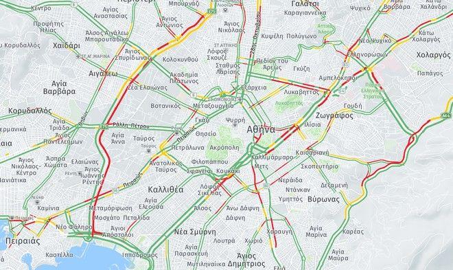 Κίνηση στους δρόμους: Χάος στους δρόμους της Αθήνας