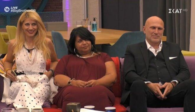 Οι τρεις υποψήφιοι προς αποχώρηση στο Big Brother
