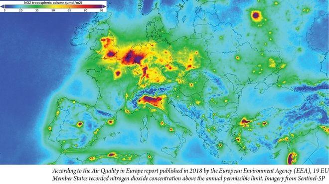 Χάρτης: Πόσο μολυσμένος είναι ο αέρας στις χώρες της Ευρώπης και στην Ελλάδα