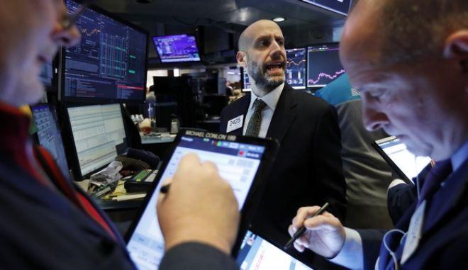 Χρηματιστές στη Νέα Υόρκη