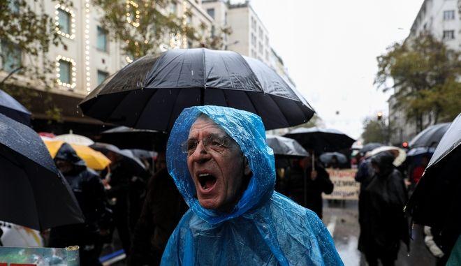 Στιγμιότυπο από κινητοποίηση συνταξιούχων στην Αθήνα (φωτογραφία αρχείου)