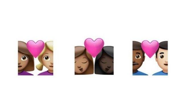 Η Apple προσθέτει νέα emoji διαφυλετικών ομόφυλων ζευγαριών