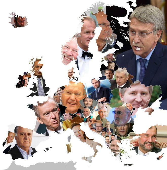 Ο χάρτης των πλουσιότερων Ευρωπαίων