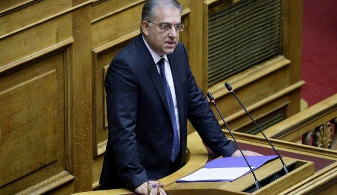 Ο υπουργός Εσωτερικών, Τάκης Θεοδωρικάκος