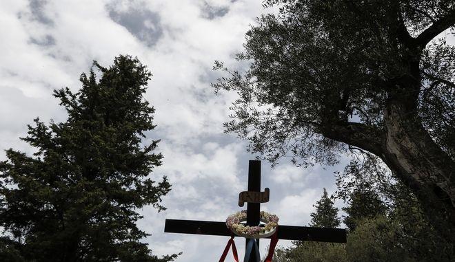Στιγμιότυπο από λιτανεία τη Δευτέρα του Πάσχα στις Νύμφες της Κέρκυρας