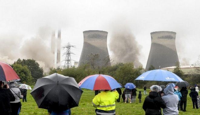 Βρετανία: Κατεδάφιση εργοστασίου παραγωγής ηλεκτρισμού σε 10 δευτερόλεπτα