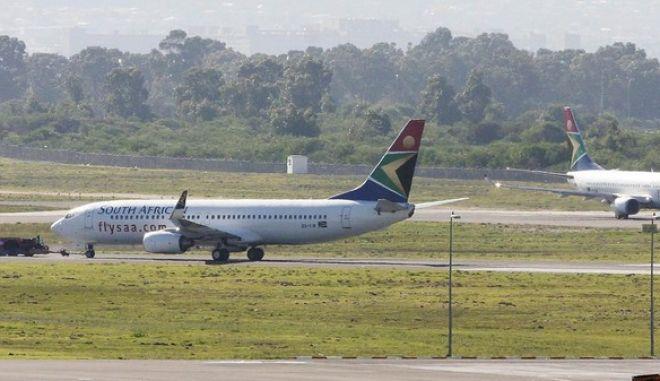 Αεροσκάφη της δημόσιας αεροπορικής εταιρίας SAA στο αεροδρόμιο του Κέιπ Τάουν