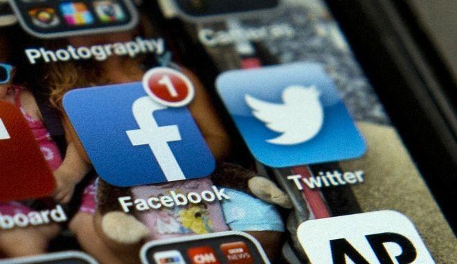 Τα apps των facebook και twitter.