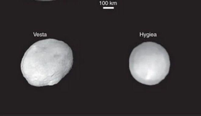 Η Υγεία, η Δήμητρα, η Εστία και η Παλλάδα, τα τέσσερα μεγαλύτερα σώματα στη ζώνη των αστεροειδών