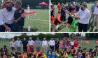 Παγκόσμια Ημέρα Προσφύγων: Ποδόσφαιρο με πρόσφυγες και αθλητές των Special Olympics έπαιξε ο Σχοινάς