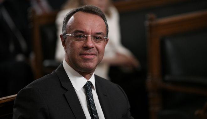 Βράβευση από την Ακαδημία Αθηνών του Προέδρου της Ευρωπαϊκής Κεντρικής Τράπεζας Μάριο Ντράγκι, παρουσία του κ. Σταϊκούρα