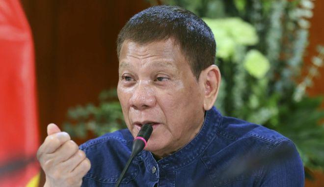 Ο πρόεδρος των Φιλιππίνων Ροντρίγκο Ντουτέρτε