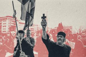 Εδώ «Αγανακτισμένοι», εκεί «Μακεδονομάχοι», σφυρίζοντας αδιάφορα για τους  «Αντιεμβολιαστές»