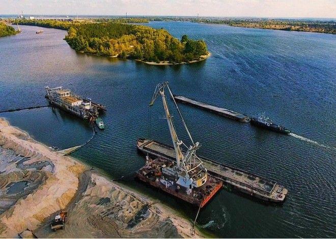 Εργασίες στον ποταμό Πρίπιατ για τον Ε40
