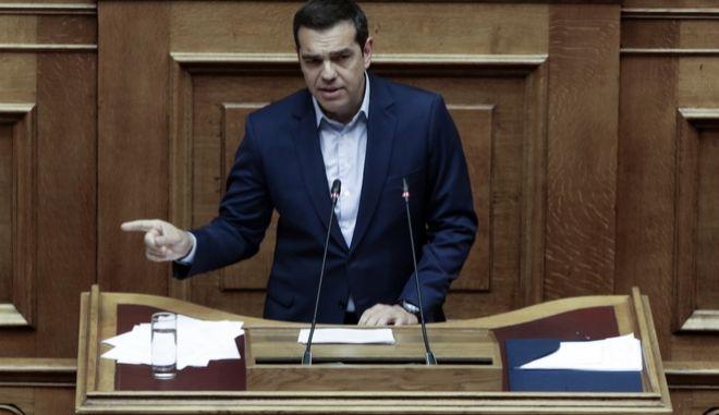 Τρίτη ημέρα της συζήτησης στην Ολομέλεια της Βουλής της πρότασης μομφής που κατέθεσε η ΝΔ εναντίον της κυβέρνησης το Σάββατο 16 Ιουνίου 2018. (EUROKINISSI/ΓΙΑΝΝΗΣ ΠΑΝΑΓΟΠΟΥΛΟΣ)