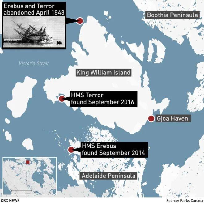 Στο φως τα πρώτα καρέ από την καταραμένη αποστολή Φράνκλιν - Χάθηκε στην Αρκτική πριν από 170 χρόνια