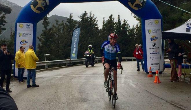 Ο Τζέφρι Πάιατ στον Ποδηλατικό Δρόμο Θυσίας με τερματισμό στην Αγία Λαύρα
