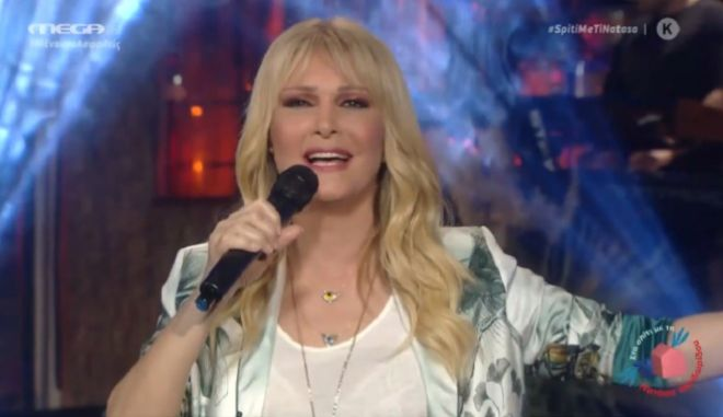 Η Νατάσσα Θεοδωρίδου τραγούδησε στο Mega