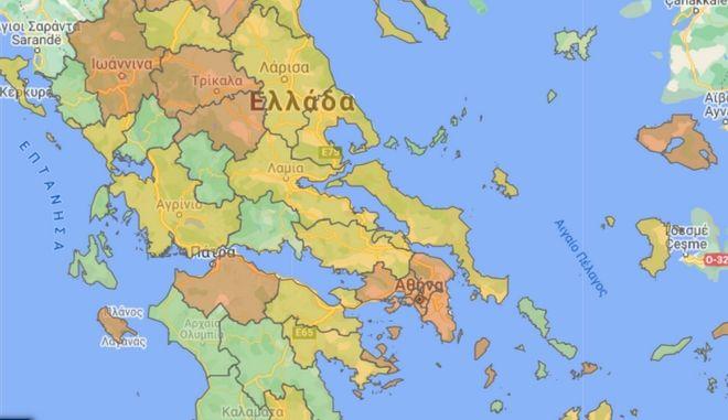 Κορονοϊός: Ο χάρτης του Covid-19 στην Ελλάδα - Δείτε τα μέτρα ανά περιοχή