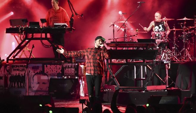 Linkin Park performs at Linkin Park and Friends Celebrate Life in Honor of Chester Bennington at the Hollywood Bowl on Friday, Oct. 27, 2017, in Los Angeles. (Photo by Richard Shotwell/Invision/AP)