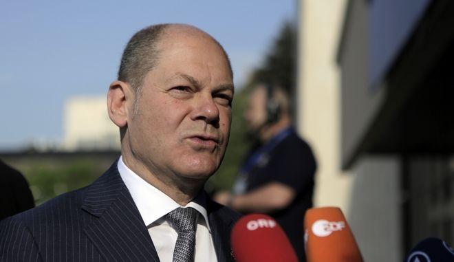 Ο Υπουργός Οικονομικών της Γερμανίας Olaf Scholz