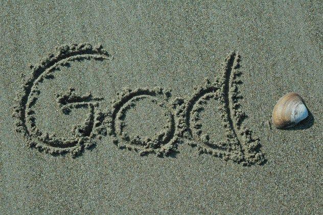 Sand Writing - God