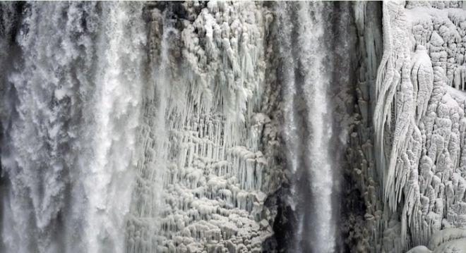 Εκπληκτικές φωτογραφίες: Πάγωσαν οι καταρράκτες του Νιαγάρα