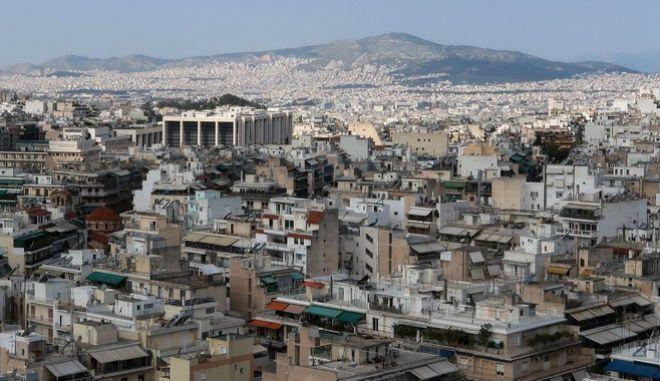 Σπίτια στην Αθήνα - φωτογραφία αρχείου
