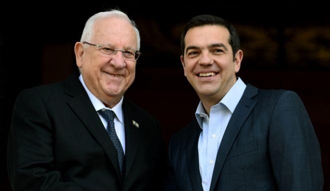 Συνάντηση του Πρωθυπουργού Αλέξη Τσίπρα με τον Πρόεδρο του Ισραήλ Ρεουβέν Ριβλίν την Δευτέρα 29 Ιανουαρίου 2018. (EUROKINISSI/ΤΑΤΙΑΝΑ ΜΠΟΛΑΡΗ)