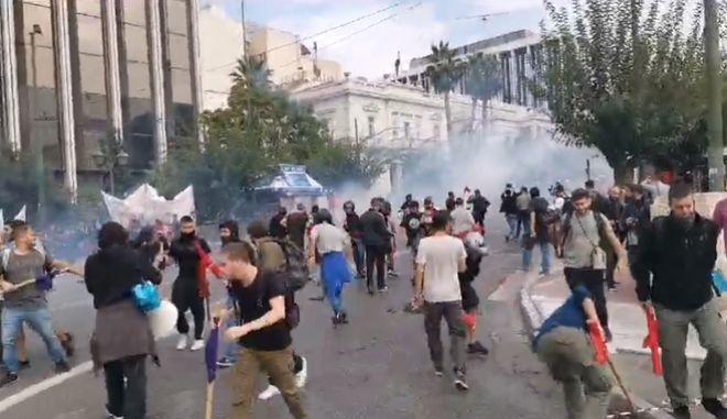 Επεισόδια στο φοιτητικό συλλαλητήριο