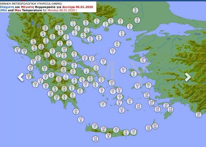 Έκτακτο Δελτίο Καιρού: Νέο κύμα ψύχους από την Κυριακή - Ισχυρές χιονοπτώσεις θυελλώδεις άνεμοι