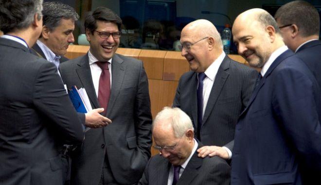 Συνεδρίαση του Eurogroup την Πέμπτη 11 Φεβρουαρίου 2016, στις Βρυξέλλες. (EUROKINISSI/ΕΥΡΩΠΑΪΚΗ ΕΝΩΣΗ)
