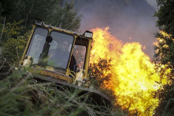 Πυρκαγιά στην Ηλεία, στην Φρίξα, τη Σκιλλουντία και την παλιά Σκιλλουντία του δήμου Ανδρίτσαινας - Κρεστένων. (EUROKINISSI/ILIALIVE.GR/ΓΙΑΝΝΗΣ ΣΠΥΡΟΥΝΗΣ)