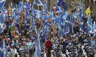 Διαδήλωση υπέρ της ανεξαρτησίας της Σκωτίας