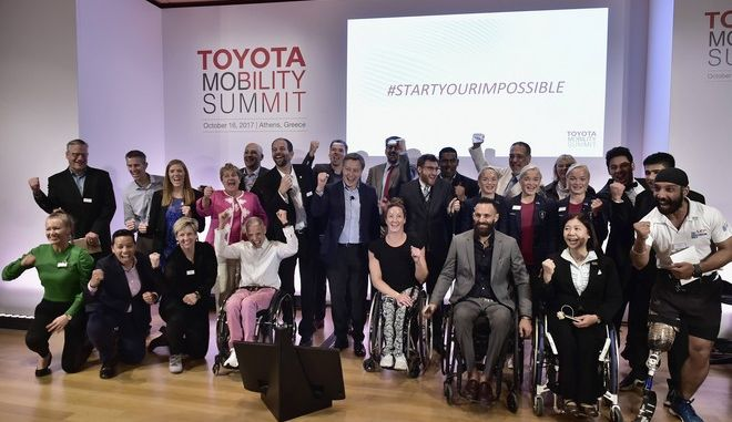 ATHENS, GREECE - OCTOBER 16:  Group Picture at the Toyota Mobility Summit on October 16, 2017 in Athens, Greece.  (Photo by Milos Bicanski/Getty Images for Toyota)