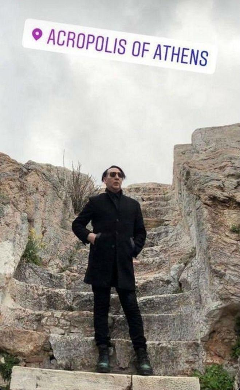 Ο Μέριλιν Μάνσον επισκέφτηκε κρυφά την Ελλάδα