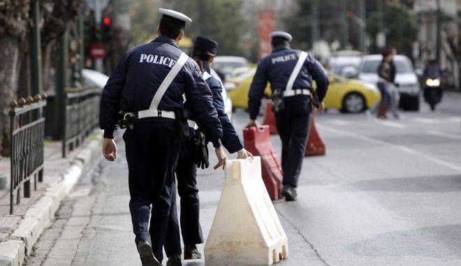 Αστυνομικοί της τροχαίας στην Αθήνα