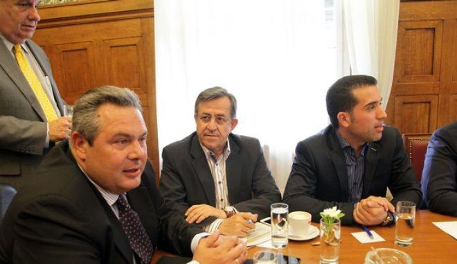 Συνεδρίαση της κοινοβουλευτικής Ομάδας των Ανεξάρτητων Ελλήνων την Παρασκευή 5 Ιουνίου 2015, στην Βουλή. (EUROKINISSI/ΓΙΑΝΝΗΣ ΠΑΝΑΓΟΠΟΥΛΟΣ)